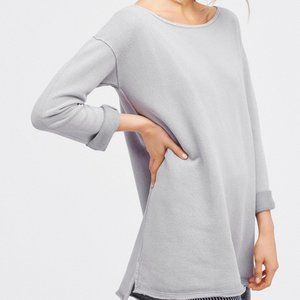 Free People Stay Here Tunic Dress New Grey Summer